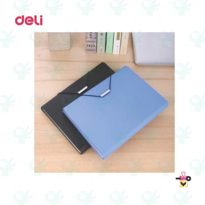 Deli Elastic Expanding File With Index A4 13pocket E5558