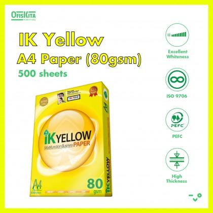 IK Yellow A4 Paper 70GSM & 80GSM