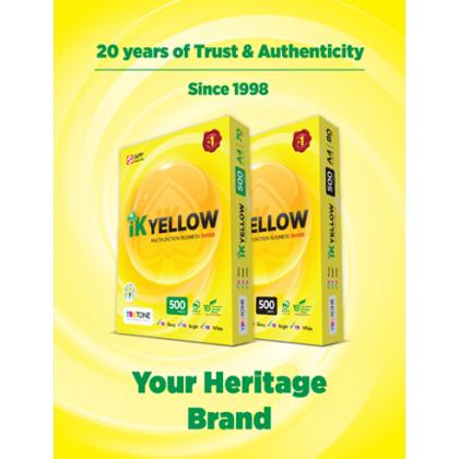 IK Yellow A4 Paper 70GSM & 80GSM (5 Reams)