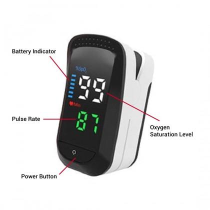 Portable Digital Fingertip Pulse Oximeter (Fingertip Oscillometer) Heart Rate Blood Oxygen Saturation Pulse Rate Monitor (**NO EXCHANGE & REFUND)