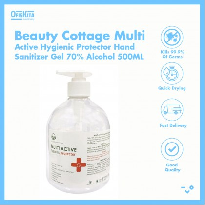 Beauty Cottage Multi Active Hygienic Protector Hand Sanitizer Gel 70% Alcohol 500ML