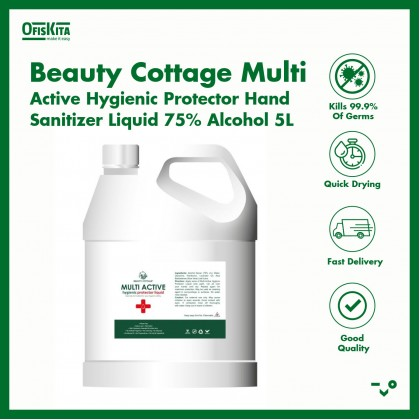 Beauty Cottage Multi Active Hygienic Protector Hand Sanitizer Liquid 75% Alcohol 5L