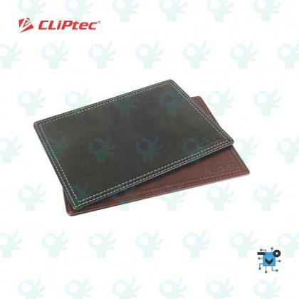 Cliptec Accessories Series RZY278 Leather Mouse Pad (The DeXigner) - BLACK/BROWN