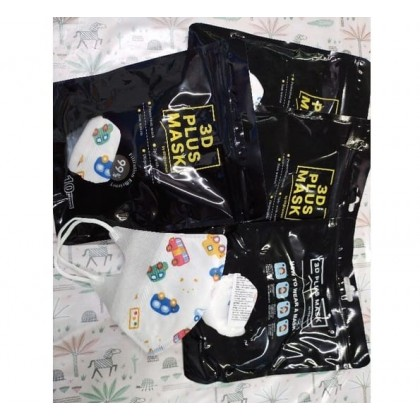 3D Plus 3 PLY Disposable Non-Woven Protection Face Mask For KIDS 10PCS/BOX (NON-MEDICAL)