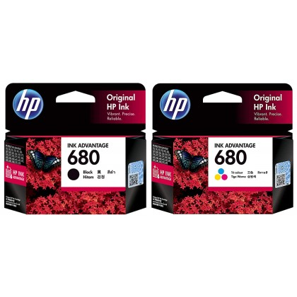 HP 680 Original Black & Tri Colour Ink Cartridge (Combo Set)